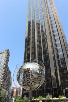 Columbus Circle with Trump Tower in the Background